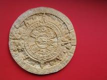 ацтекский календар Стоковые Фотографии RF
