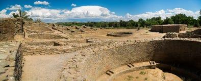 Ацтек губит национальный монумент в Неш-Мексико Стоковые Изображения