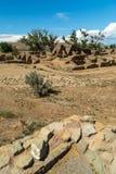 Ацтек губит национальный монумент в Неш-Мексико Стоковое Фото