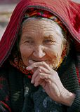 Ашхабад, Туркменистан - 29-ое июля 2013 Портрет старое unident Стоковое Изображение RF