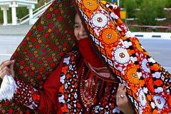 Ашхабад, Туркменистан - 10-ое марта 2013 Портрет молодой ООН Стоковое Изображение