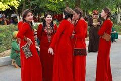 Ашхабад, Туркменистан - 10-ое марта 2013 Портрет молодой ООН Стоковое Фото