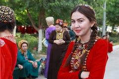 Ашхабад, Туркменистан - 10-ое марта 2013 Портрет молодой ООН Стоковые Изображения
