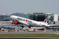 Аэробус A320-214 авиакомпаний праздников чехословакский Стоковая Фотография RF