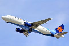 Аэробус A320 авиакомпаний Israir Стоковая Фотография