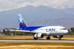 Аэробус A319 авиакомпаний LAN Стоковое фото RF