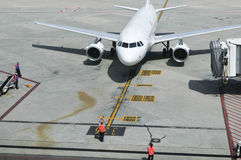 Аэробус A320 на стробе Стоковые Изображения