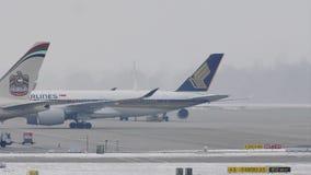 Аэробус Сингапоре Аирлинес в авиапорте Мюнхена, MUC