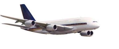 Аэробус A380 bigest самолет изолированного мира Стоковые Фотографии RF