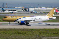 Аэробус A319-214 A9C-AO Gulf Air Стоковое фото RF