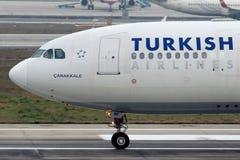 Аэробус A330-202 Canakkale TC-JNF Turkish Airlines Стоковые Изображения RF