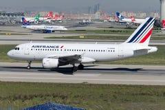 Аэробус A319-111 F-GRHN Air France Стоковое Изображение