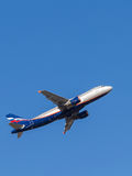 Аэробус A320 Kurchatov, русские авиакомпании Стоковое Фото