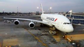 Аэробус A380P раньше, который нужно принять  стоковые изображения rf