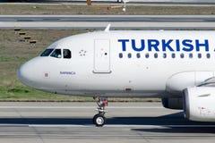 Аэробус A319-132 TC-JLV Turkish Airlines  Стоковые Фотографии RF