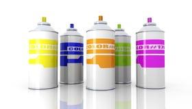 аэрозоль консервирует цвет Стоковые Изображения RF