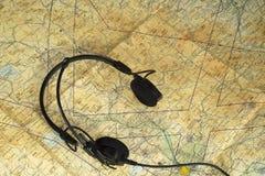 Аэронавигационная карта Стоковое фото RF