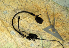 Аэронавигационная карта Стоковое Изображение
