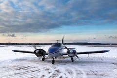 Аэроплан волынщика Стоковая Фотография