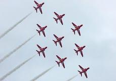 Аэроплан на авиасалоне Portrush n r стоковое изображение rf