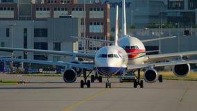 Аэропортовое движение Франкфурта сток-видео