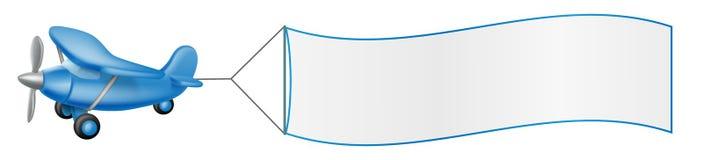 Аэроплан вытягивая знамя Стоковая Фотография RF