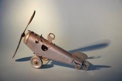 Аэроплан игрушки олова Стоковая Фотография RF