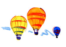 Аэростаты летая к небу Стоковое фото RF