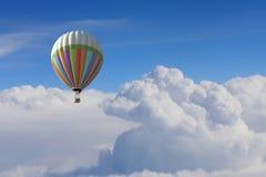 Аэростат плавая в небо дня Мультимедиа Стоковое Фото