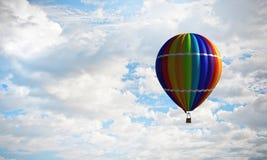 Аэростат плавая в небо дня Мультимедиа Стоковые Фото