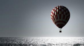 Аэростат плавая в небо дня Мультимедиа Стоковые Фотографии RF
