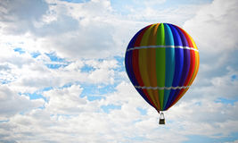 Аэростат плавая в небо дня Мультимедиа Мультимедиа Стоковое фото RF