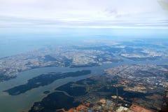 Аэрофотоснимок Сингапура Стоковое Изображение