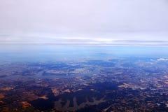 Аэрофотоснимок Сингапура Стоковые Изображения