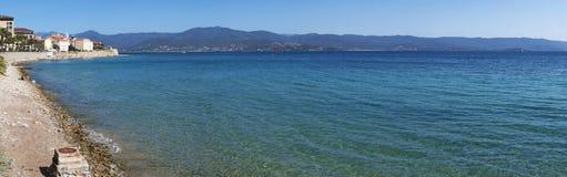 Аяччо, пляж, Корсика, Corse du Юг, южная Корсика, Франция, Европа Стоковая Фотография