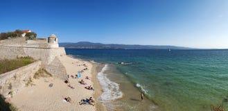 Аяччо, пляж, Корсика, Corse du Юг, южная Корсика, Франция, Европа Стоковое Фото