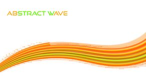 Ая-зелен конспекта яркая и оранжевая волна покрасьте вектор возможных вариантов картины различный иллюстрация штока