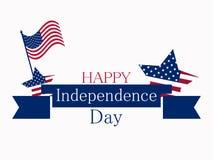 4-ая независимость июль дня Патриотическая поздравительная открытка, день holidaIndependence США 4-ое -го июль Патриотическая поз Стоковые Фото