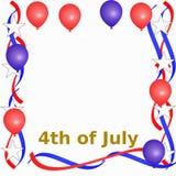 4-ая рамка июль Стоковое фото RF