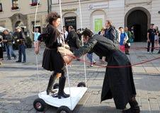 30-ая улица - международный фестиваль уличных театров в Cracow, Польше Стоковые Фото
