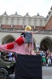 30-ая улица - международный фестиваль уличных театров в Cracow, Польше Стоковое Фото