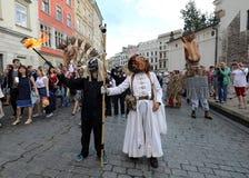 30-ая улица - международный фестиваль уличных театров в Cracow, Польше Стоковое фото RF