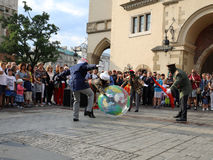 30-ая улица - международный фестиваль уличных театров в Cracow, Польше Стоковое Изображение RF