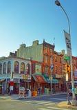 2-ая улица в старом городе в Филадельфии Стоковые Фото