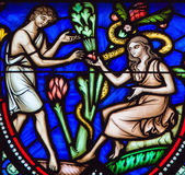 Адам и канун и первородный грех Стоковое фото RF