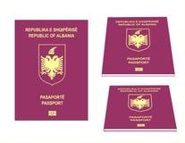 Албанский пасспорт Стоковое фото RF