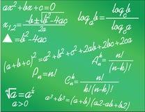 Алгебреические формулы математики Стоковое Изображение