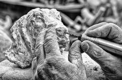 Алебастр Volterra Италия головы собаки проступи Стоковые Фото