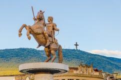 Александр Македонский, памятник Стоковая Фотография