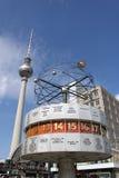 Александр Platz с башней ТВ Стоковое фото RF